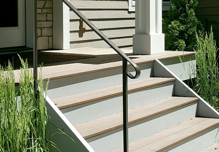 Exterior Step Railing Gallery