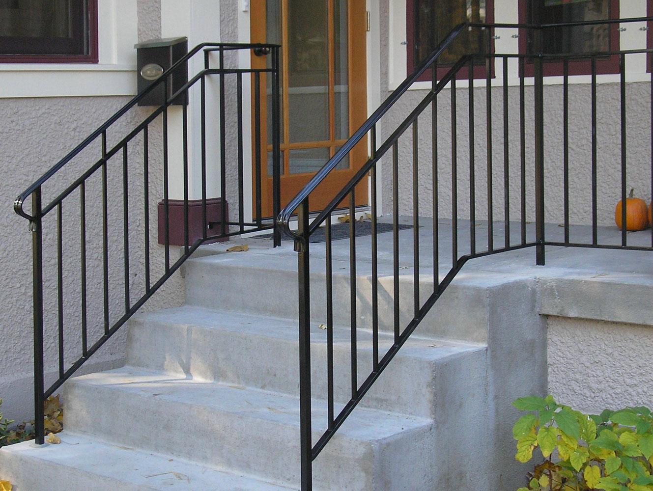 100+ [ Exterior Stair Railings ] | Cheap And Simple Deck Stair .
